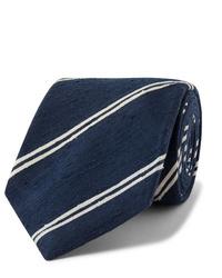 dunkelblaue und weiße horizontal gestreifte Krawatte von Kingsman