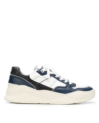 dunkelblaue und weiße niedrige Sneakers von Ami Paris