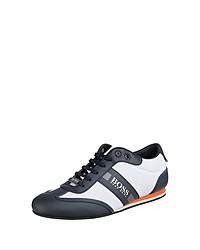 dunkelblaue und weiße niedrige Sneakers von BOSS