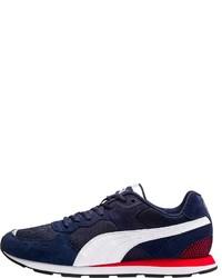 dunkelblaue und weiße niedrige Sneakers von Puma