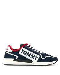 dunkelblaue und weiße Segeltuch niedrige Sneakers von Tommy Jeans