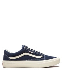 dunkelblaue und weiße Segeltuch niedrige Sneakers von Vans