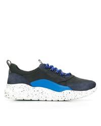 dunkelblaue und weiße Sportschuhe von Bally