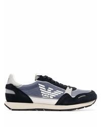 dunkelblaue und weiße Sportschuhe von Emporio Armani