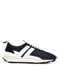 dunkelblaue und weiße Sportschuhe von Lanvin
