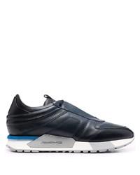dunkelblaue und weiße Sportschuhe von Santoni