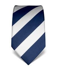 dunkelblaue und weiße vertikal gestreifte Krawatte von Vincenzo Boretti