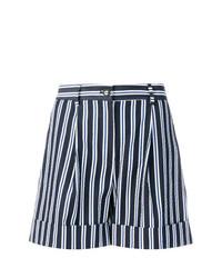 dunkelblaue und weiße vertikal gestreifte Shorts von P.A.R.O.S.H.