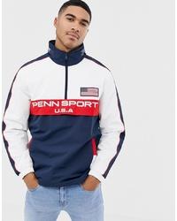 dunkelblaue und weiße Windjacke von Penn Sport