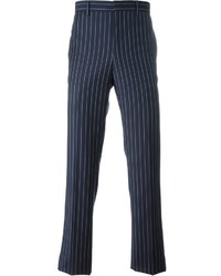 dunkelblaue vertikal gestreifte Anzughose von Givenchy