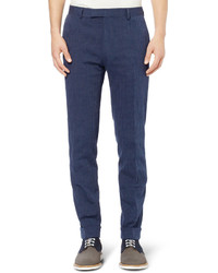 dunkelblaue vertikal gestreifte Anzughose von Gant
