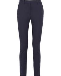 dunkelblaue vertikal gestreifte Anzughose von Victoria Beckham