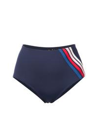 dunkelblaue vertikal gestreifte Bikinihose von Morgan Lane