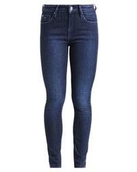 dunkelblaue vertikal gestreifte enge Jeans von Pepe Jeans