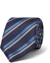 dunkelblaue vertikal gestreifte Krawatte von Canali