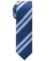 dunkelblaue vertikal gestreifte Krawatte von Eterna