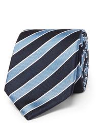dunkelblaue vertikal gestreifte Krawatte von Hugo Boss