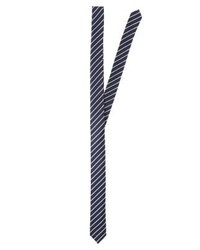 dunkelblaue vertikal gestreifte Krawatte von Olymp