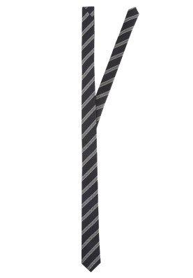 dunkelblaue vertikal gestreifte Krawatte von s.Oliver BLACK LABEL