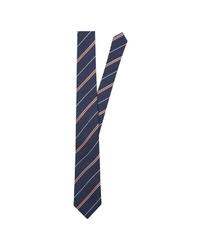 dunkelblaue vertikal gestreifte Krawatte von Seidensticker