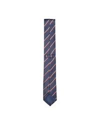 dunkelblaue vertikal gestreifte Krawatte von Selected Homme