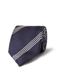 dunkelblaue vertikal gestreifte Krawatte von Tom Ford