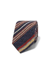 dunkelblaue vertikal gestreifte Krawatte von Turnbull & Asser
