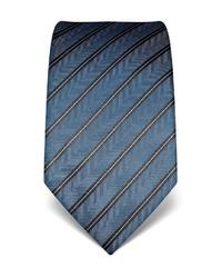 dunkelblaue vertikal gestreifte Krawatte von Vincenzo Boretti