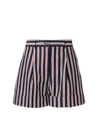 dunkelblaue vertikal gestreifte Shorts von P.A.R.O.S.H.