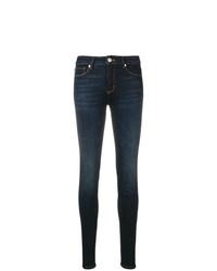 dunkelblaue verzierte enge Jeans von Love Moschino