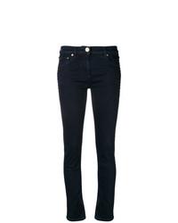 dunkelblaue verzierte enge Jeans von Valentino