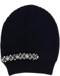 dunkelblaue verzierte Mütze von No.21