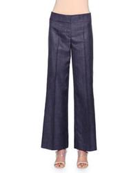 dunkelblaue weite Hose aus Jeans