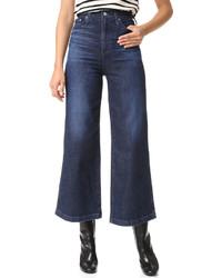 dunkelblaue weite Hose aus Jeans von AG Jeans