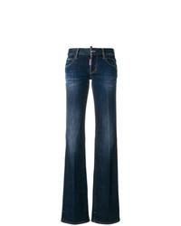 dunkelblaue weite Hose aus Jeans von Dsquared2