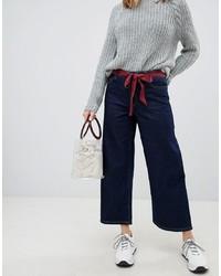 dunkelblaue weite Hose aus Jeans von Only