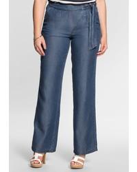 dunkelblaue weite Hose aus Jeans von SHEEGOTIT