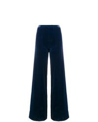 dunkelblaue weite Hose von Emanuel Ungaro Vintage