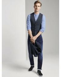 dunkelblaue Weste von Tom Tailor