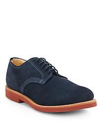 dunkelblaue Wildleder Derby Schuhe