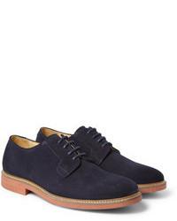 dunkelblaue Wildleder Derby Schuhe von A.P.C.