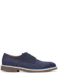 dunkelblaue Wildleder Derby Schuhe von Corneliani