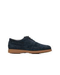 dunkelblaue Wildleder Derby Schuhe von Hogan