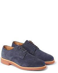 dunkelblaue Wildleder Derby Schuhe von J.Crew