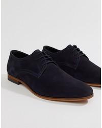 dunkelblaue Wildleder Derby Schuhe von Pier One
