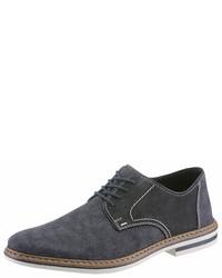 dunkelblaue Wildleder Derby Schuhe von Rieker