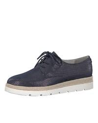 dunkelblaue Wildleder Derby Schuhe von s.Oliver