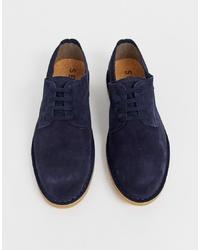 dunkelblaue Wildleder Derby Schuhe von Selected Homme