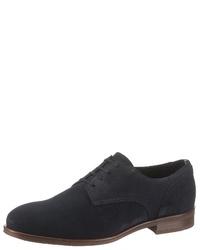 dunkelblaue Wildleder Derby Schuhe von Tommy Hilfiger