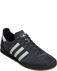 dunkelblaue Wildleder niedrige Sneakers von adidas Originals